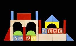 block play trä Arkivbild