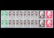 Block of Postage Stamps Stock Photo