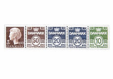 Block of Postage Stamps Royalty Free Stock Photos