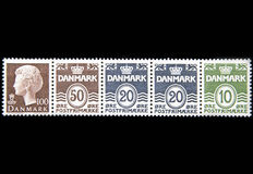 Block of Postage Stamps Royalty Free Stock Photo