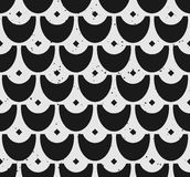 Block print seamless pattern with scale motifs Royalty Free Stock Image