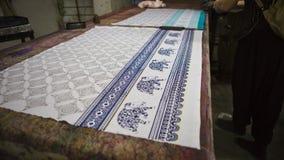 Block Printing for Textile in India. Jaipur Block Printing Tradi Stock Photography