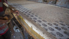 Block Printing for Textile in India. Jaipur Block Printing Tradi Royalty Free Stock Images