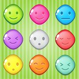 Block puzzle colorful shape diamond button glossy jelly. 2d asset for user interface GUI in mobile application or casual video game. Vector for web or game Royalty Free Stock Photography