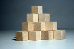 Block pyramid Royalty Free Stock Photos