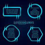 Block quote and pull design elements Stock Photos