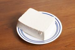 Block Of Raw Tofu royalty free stock photography