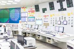 Block reactor control board of nuclear power plant Royalty Free Stock Images