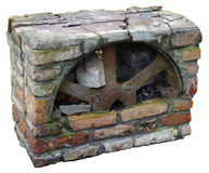 Block of retro fireplace isolated Stock Photography