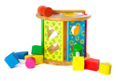 Block Shapes wodden toy Royalty Free Stock Photography