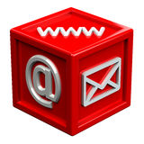 Block with signs: envelope, www, e-mail Royalty Free Stock Photography