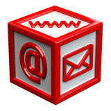 Block with signs: envelope, www, e-mail Royalty Free Stock Photos