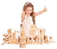 block som bygger barnspelrum fotografering för bildbyråer