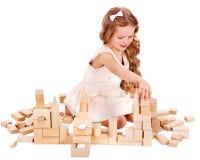 block som bygger barnspelrum Arkivbilder