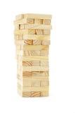 block som bygger det trätornet Royaltyfria Foton