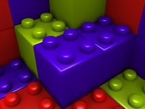 block som bygger lego Royaltyfria Foton