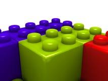 block som bygger lego Royaltyfria Bilder