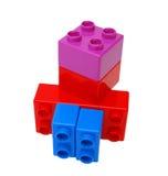 block som bygger plast- Royaltyfri Foto