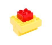 block som bygger plast- Arkivfoto