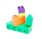 block som bygger plast- Arkivbilder