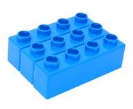 block som bygger plast- Arkivfoton