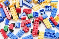 block som bygger plast- royaltyfria foton