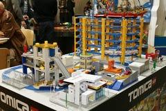 block som bygger townen Arkivbilder