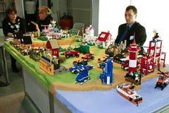 block som bygger townen Royaltyfri Fotografi