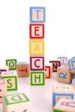 block som undervisar Royaltyfria Foton