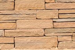 Block-Steinwand-Hintergrund Lizenzfreie Stockfotos