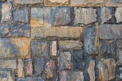 Block-Steinwand-Hintergrund Lizenzfreie Stockbilder