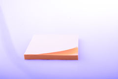 Block  sticky paper of yellow color Royalty Free Stock Image