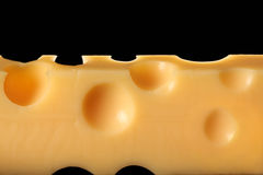 Block of Swiss cheese Stock Photos
