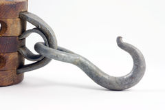 Block and tackle hook Royalty Free Stock Photo