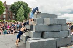 BLOCK-Tanzleistung Lizenzfreies Stockfoto