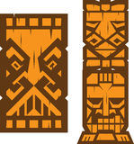 Block Tiki Totem Stock Photos