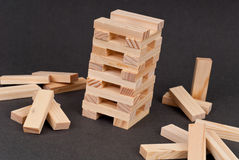 Block Tower Building Game Stock Photos