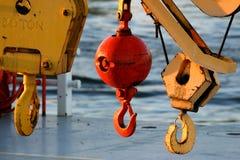Block und Gerät auf Dock Lizenzfreies Stockfoto