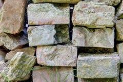 Block von alten Ziegelsteinen Stockfoto