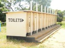 Block von Blair-Grubenlatrinen/von Toiletten lizenzfreie stockfotografie