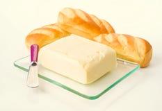 Block von Butter- und Briocherollen Lizenzfreie Stockfotografie