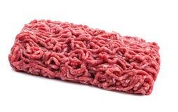 Block von rohem zerkleinern Rindfleisch Lizenzfreies Stockfoto
