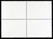Block von vier leeren Briefmarken Stockfotografie