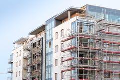Block von Wohnungen im Bau Lizenzfreies Stockbild