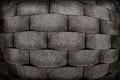 Block wall. Fish eye style royalty free stock images