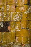 Block wall background. Block wall background at Phanom Rung historical park in Castle Roc Stock Photography