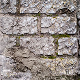Block Wall with decorative plaster Royalty Free Stock Photo