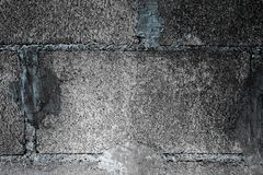 Block wall. Gray black background of Cement block wall Stock Photography
