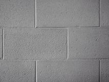 Block wall white Stock Photography