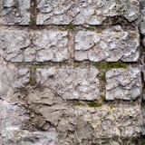 Block-Wand mit dekorativem Gips Lizenzfreies Stockfoto